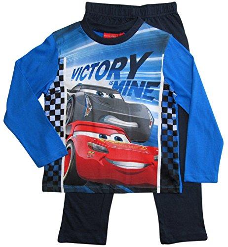 Cars Disney 3 Kollektion 2018 Ökotex Standard 100 Schlafanzug 92 98 104 110 116 122 128 Jungen Pyjama Lang Lightning McQueen (92-98, Blau) (Mcqueen Pyjamas Lightning)