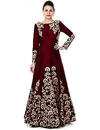 Siddeshwary Fab Women's Taffeta Silk Anarkali Gown