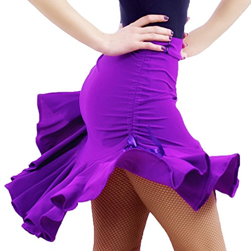 Falda Baile Latino Mujer Falda Práctica Baile Rumba