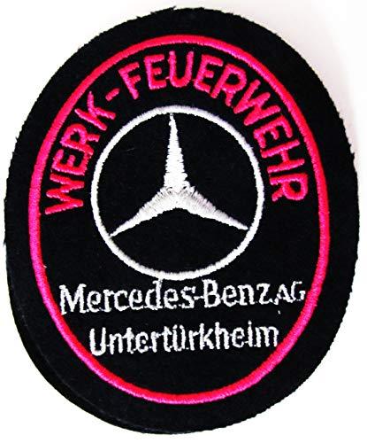 Werkfeuerwehr - Mercedes Benz Untertürkheim - Ärmelabzeichen - Abzeichen - Aufnäher - Patch