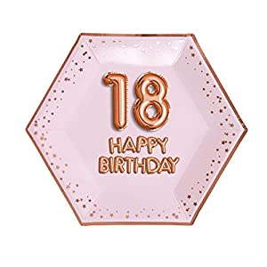 Neviti- Glitz & Glamour-Plate-Large-Pink & Rose Gold-Age 18 Papel (773185)