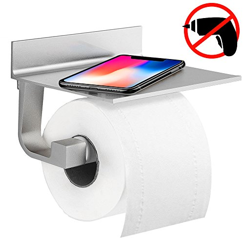 Toilettenpapierhalter Ohne Bohren, Unibelin Klopapierhalter Selbstklebend  Aluminium Papierrollenhalt