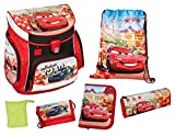 Scooli CAGR8252AZ Campus UP Schulranzen Set Disney Pixar Cars, 6 teilig