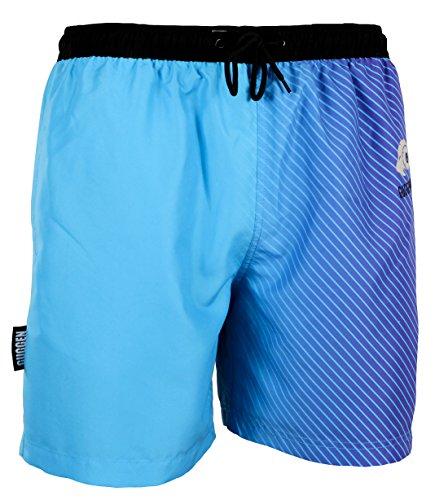 GUGGEN Mountain Herren Badeshorts Beachshorts Boardshorts Badehose Schwimmhose Männer mit Muster Print* Blau Lila M