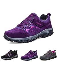 ff132cffb gracosy Zapatos con Cordones Low-Rise para Mujer Botas para Caminar Running  Deportes al Aire