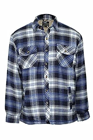 Mens Champion Skye Warm Sherpa Fleece Lined Padded Lumberjack Winter Shirt