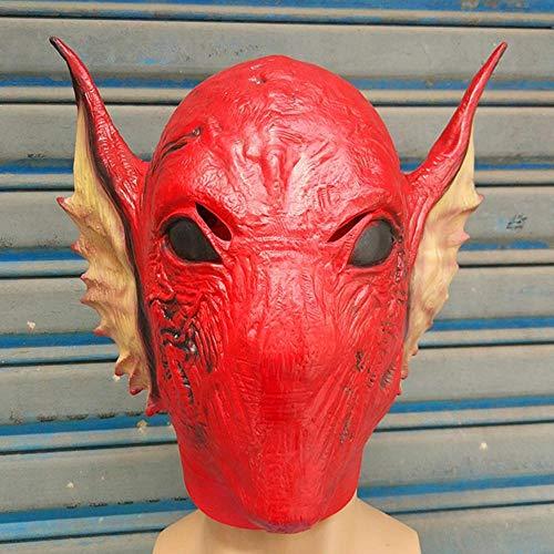 Littlefairy Masken für Erwachsene,Alien Maske Perücke Leistung Requisiten