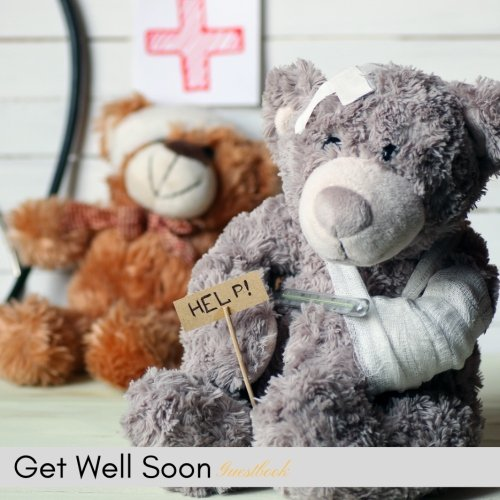 Get Well Soon Guestbook: Well Wishes Message Book, Keepsake, Guest, Scrap Book, Memory Book | For Friends, Colleagues, Children, Dad, Granddad, Mom, Grandmother, Uncle, Aunt | Paperback