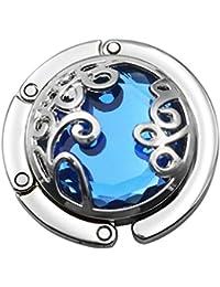 MagiDeal Assorted Metal Crystal Portable Folding Heart Design Handbag Purse Hanger Hook - #2