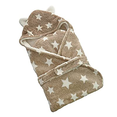 Baocore protectora enveloppante de bebé Lange cobertura para capazo de bebé de bebé albornoz de toalla con capucha forro polar extrasuave grueso cálido saco de dormir de bebé para cochecito gigoteuses y nidos de Ángel (Fibra Poliéster lavable Estrellas To