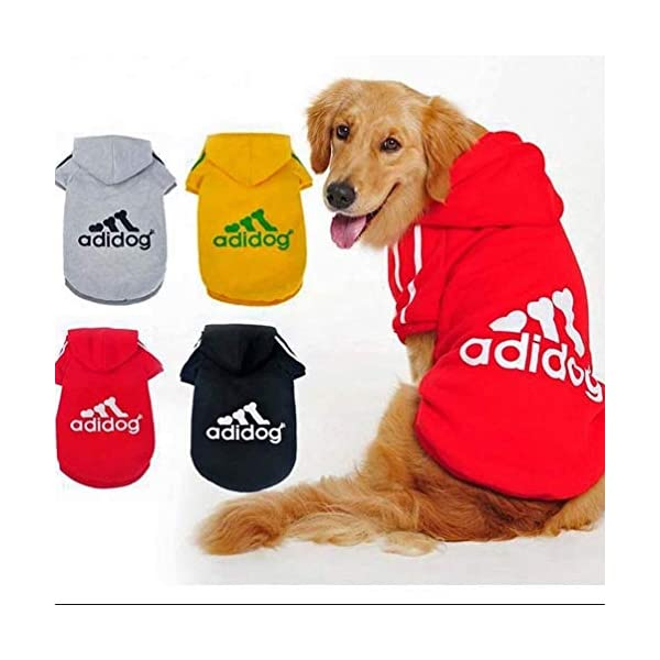 Scheppend Adidog Pet Dog Clothes Winter Coat Jacket Cat Puppy Hoodie Sweaters Cotton Clothing for Small & Medium & Large Dogs 3