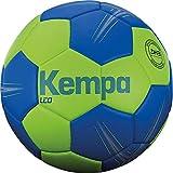 Kempa Leo-Ballons de Handball Taille 2 Adulte Unisexe, Vert Printemps/Azur, 2
