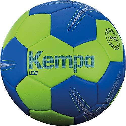 Kempa Unisex- Erwachsene LEO Handball, Ball, Grün/Blau, 3