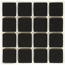 Diseño con texto en inglés adhesivo de suelo protectores de fieltro para muebles cuadrado almohadillas de 32 piezas