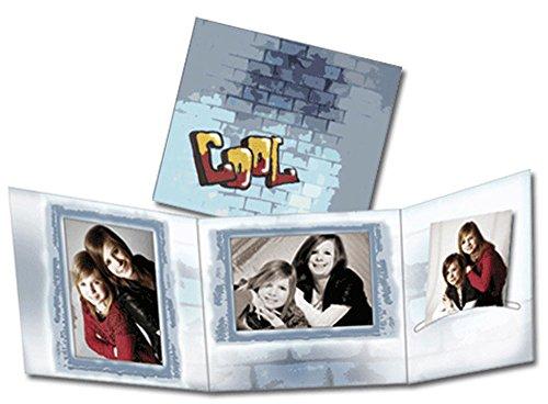 Foto-Profi-Shop Zientarra 50 STK. Portraitmappe 3-teilig für 13x18 Fotos & CD im Design Cool Fotomappe Leporello für Studio, Kindergarten, Schule