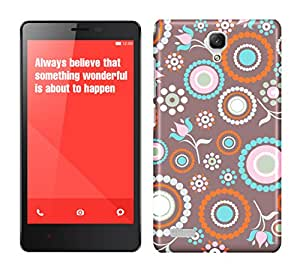 WOW 3D Printed Designer Mobile Case Back Cover For Xiaomi Redmi Note 4G / Xiaomi Redmi Note