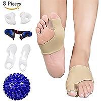 Lanlan 8 teile/satz Hallux Valgus Toe Extroversion Korrektur Toe Separator Set + Massage Ball preisvergleich bei billige-tabletten.eu
