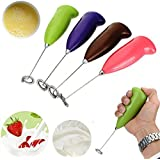 Gion's Soft Touch Stainless Steel Mini Handheld Electric Mixer Cream Milk And Coffee Frother Hand Mixer Beater