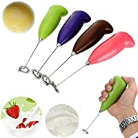 Lemish Soft Touch Stainless Steel Mini Handheld Electric Mixer Cream Coffee Frother (Multi Color)