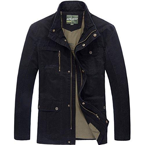 Herren Winter Outdoor Long Jacken and Mantel Freizeit Jacke 2106