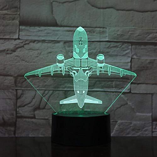 Flugzeug Kreatives Geschenk Acryl Bunte Nachtlichter 3D Einzigartige Dekorative Tischleuchten Kinderzimmer Dekoration 3D Nacht Lightusb Wiederaufladbare Frau Ehemann Sohn Tochter Vater Mutter Enkel Ge