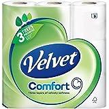 Triple Velours Toilette Blanc Pur Tissu Mou 9 Par Paquet (Lot de 6)