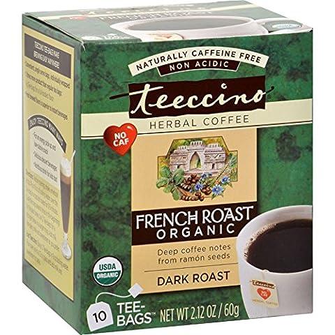 Teeccino - French Dark Roast Herbal Coffee Tea Bags - 10 Tea Bags