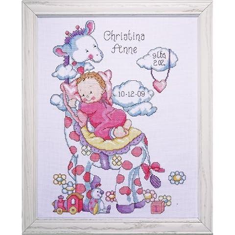 Tobin - Juego de punto de cruz, diseño de jirafa y bebé, multicolor