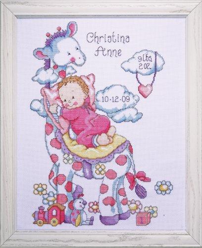 Tobin - Juego de Punto de Cruz, diseño de Jirafa y bebé
