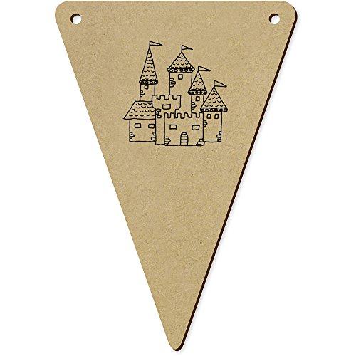 ttelalterliche Burg' Wimpel / Banner aus Holz (BN00031053) ()