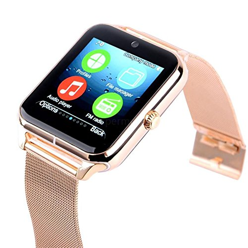 Smartwatch Apple Compatible With Honor Xiaomi Motorola Samsung Moto Apple Oppo Vivo Micromax OnePlus Redmi iPhone With SIM and Camera Card Slot Support   Analogue Watch   Works For Both - Android and iPhone  WhatsApp and Facebook  Activity Tracker   Fitness Band   New Arrival Best Selling High Quality Available At Lowest Price by m-fit   COLOUR MAY VARY  available at amazon for Rs.5999