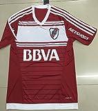 20162017Nueva Temporada Río de la plata Cartas Home Fútbol Soccer Jersey Camisas en rojo, hombre, rojo, small
