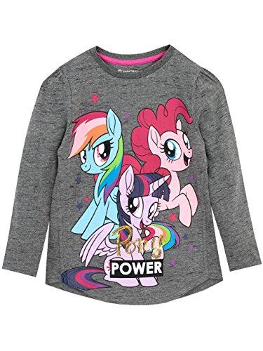 Hasbro my little pony maglietta a maniche lunga mio mini pony ragazze grigio 7-8 anni