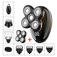CX ECO Rotary Shaver Cordless Professional Bald head Electric Razor Nose Hair Trimmer for Men Grooming Kit Usb Rechargeable with 4D Razor-head