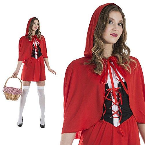 Rotkäppchen Kostüm Kurzer Rock Größe M Damen Karneval Märchen 50105