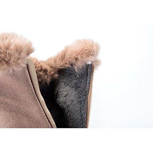 Donna Martin Stivali WSXY5220 Inverno di Tacco alto Della Chiusura Lampo Laterale Creativo Della Serie di Modo,KJJDE naked color