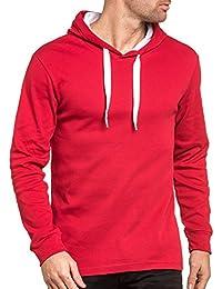 BLZ jeans - Sweat capuche rouge basic