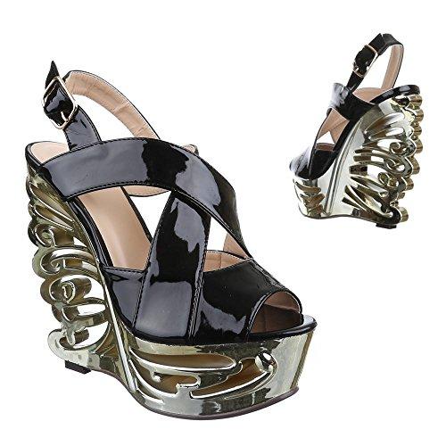 Ital-Design - Sandali  donna Nero (Nero)
