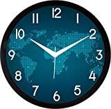 #9: IT2M Round Plastic Wall Clocks (30 cm x 30 cm x 4 cm, Black, JIN28)