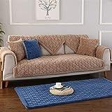 Liveinu Fleece Plüsch Warm Matte mit Anti-Rutsch Hochflor Sofaüberwurf Sesselschutz Spielmatte Japanischer Tatami Teppich Für Fußboden Sofa und Bett 70x150cm Khaki