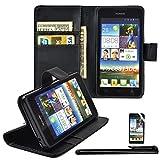 4in1 Wallet in Schwarz für - Huawei Ascend Y530 -