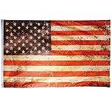Flaggenking USA Vintage Retro-Stars und Stripes-Wetterfest Fahne/Flagge, Mehrfarbig, 150 x 90 x 1 cm