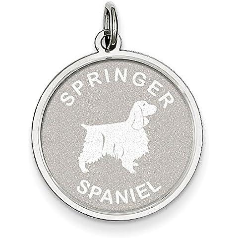 Argento Sterling Springer Spaniel Disco Charm