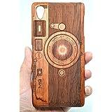 Holzsammlung® SONY Xperia Z5 Premium Funda de Madera - Cámara de M9 de palo de rosa - Natural Hecha a mano de Bambú / Madera Carcasa Case Cover