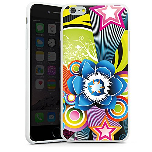 Apple iPhone X Silikon Hülle Case Schutzhülle Ornamente Flower Bunt Silikon Case weiß