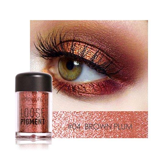 Barbarer Lidschatten Palette, Glitter Perlglanz Lidschatten Pulver Eye Shadow Makeup Pearl Schimmer Metallic Kosmetik Eyeshadow Palette -18 Farben (4) (Ton-palette)
