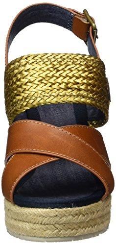 Napapijri Belle, Sandales ouvertes à talon compensé femme Marron - Braun (bronze N32)