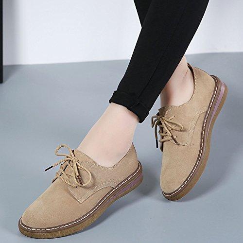 HKR Chaussures de Ville à Lacets Pour Femme 989 Khaki