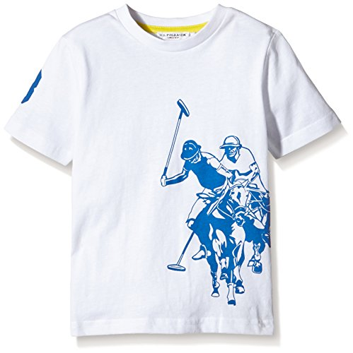 us-polo-assn-dbl-horse-ss-t-shirt-mixte-enfant-blanc-bianco-100-taille-2