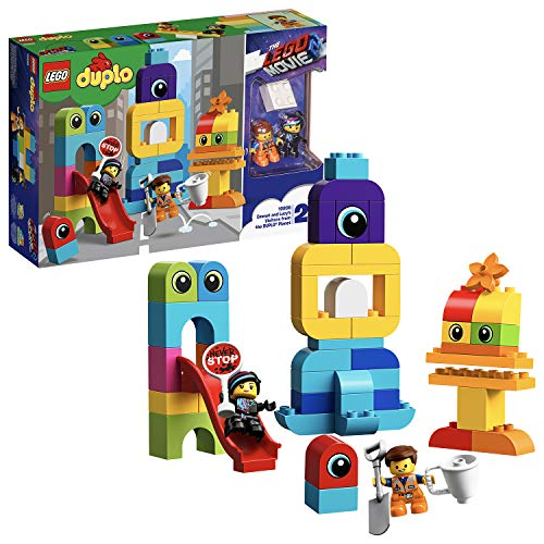 LEGO DUPLO 10895 THE LEGO MOVIE 2 Emmet and Lucy's Visitors from the DUPLO Planet Building Set, Fun Construction Toy for Kids Best Price and Cheapest